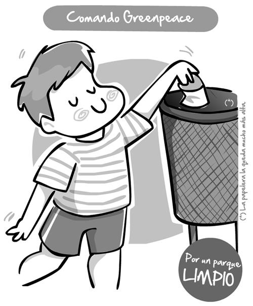 Dibujos para colorear niño tirando basura - Imagui